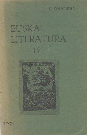 Euskal Literatura V