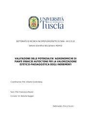 valutazione delle potenzialita' agronomiche di piante erbacee ...