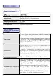 curriculum vitae - Azienda Ospedaliera Senese