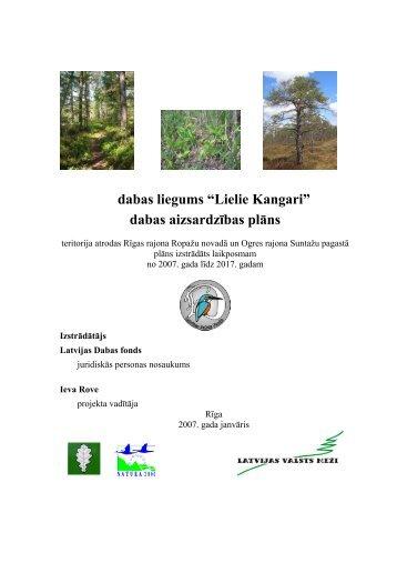 Lielie Kangari - Latvijas Dabas fonds