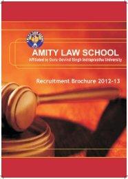 Recruitment Brochure 2012-13 - Amity