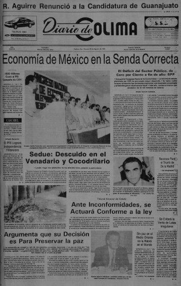 Economía de México en la Senda Correcta - Universidad de Colima