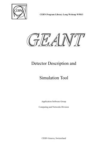 Detector Description and Simulation Tool - Collection.europarchive ...