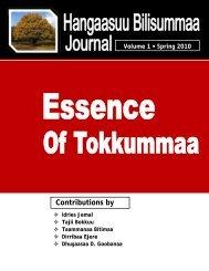 Hangaasuu Bilisummaa Journal Volume 1 - ULFO