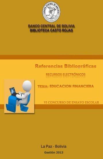 Referencias Bibliográficas Recursos Electrónicos. - Banco Central ...