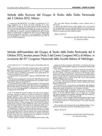 Gruppi di Studio - Società Italiana di Nefrologia