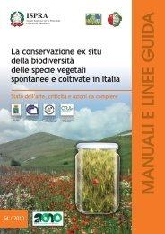 La conservazione ex situ della biodiversità delle specie