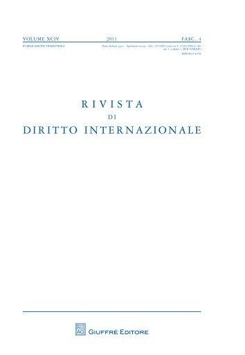 Rivista di diritto internazionale 4-2011 - SIDI