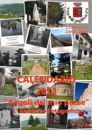 calendario 2013 - Comune di Zandobbio
