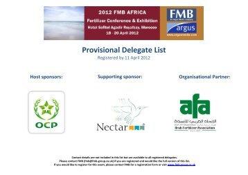 2012 FMB Africa Fertilizer Conference Exhibition ... - Argus Media