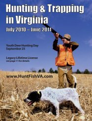 Hunting & Trapping In Virginia - Virginia Department of Game and ...