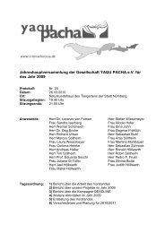 Protokoll Jahreshauptversammlung 2009 - Yaqu Pacha