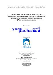 monitoring the incidental mortality of cetaceans - Yaqu Pacha