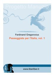 The Project Gutenberg eBook of Passeggiate per l'Italia ... - Liber Liber