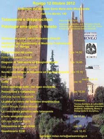 Brochure dell'evento - Azienda ULSS 18