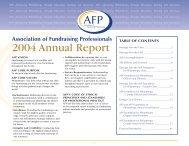 2004 Annual Report - Association of Fundraising Professionals
