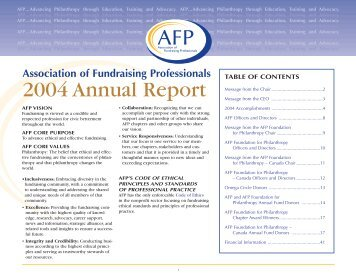 2004 Annual Report - Association of Fundraising Professionals