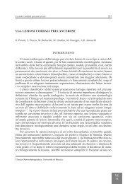 VI.6. LESIONI CORDALI PRECANCEROSE - AOOI