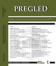 PREGLED Broj/Number 1 2012 - Pregled - University of Sarajevo
