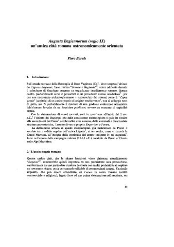 Augusta Bagiennorum (regio IX) - Istituto di Fisica Generale Applicata