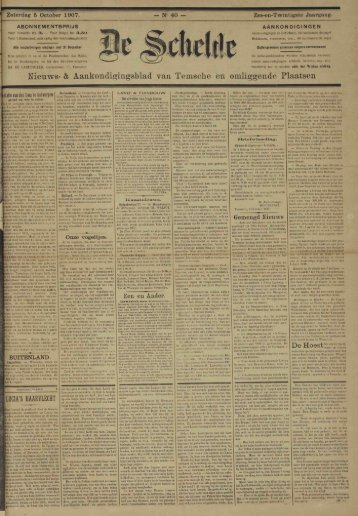 Nieuws- & Aankondigingsblad van Temsche en omliggende Plaatsen