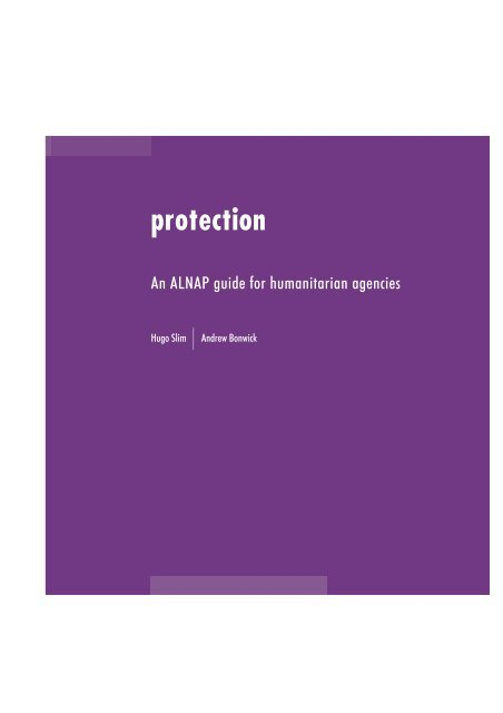 Protection: An ALNAP guide for humanitarian agencies