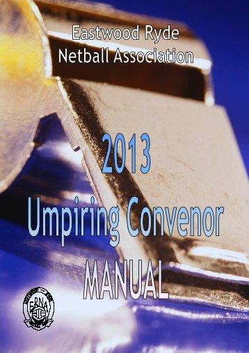 Umpiring Convenors Manual - ERNA (Netball) - Netball Australia
