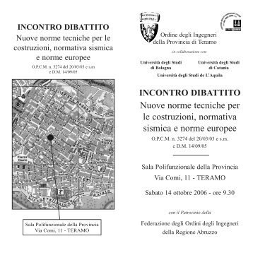 Nuove norme tecniche per le costruzioni, normativa sismica e norme ...