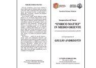 """""""enrico mattei"""" in medio oriente giulio andreotti - Claudio Moffa"""
