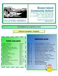 November 2010 Newsletter - the School District - SD45