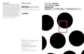 Abendrprogramm [PDF, 82 KB] - Berliner Festspiele