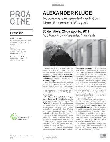 Descargar Press Kit (pdf) - Fundación Proa