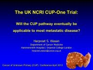 The UK NCRI CUP-One Trial
