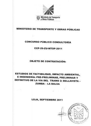 Pliegos - Ministerio de Transporte y Obras Públicas