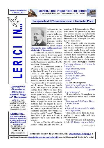 marzo 2013 / anno 6 - numero 3 - Comune di Lerici