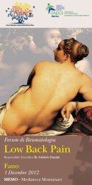 Forum di Reumatologia Low Back Pain