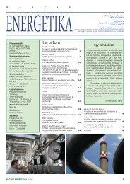 tartalom - Magyar Energetikai Társaság