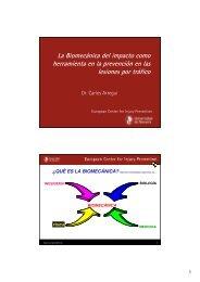 La Biomecánica del impacto como herramienta de prevención en ...