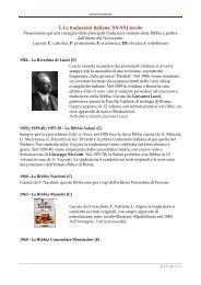 5. Le traduzioni italiane: XX-XXI secolo