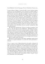 Louis Hjelmslev, Teoria del linguaggio. Résumé - Università degli ...