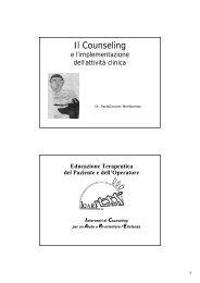 Educazione Terapeutica al Paziente (OMS 1997/2007)