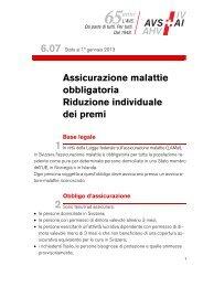 Assicurazione malattie obbligatoria Riduzione individuale dei ... - AHV