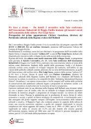 We have a dream - Comune di Reggio Emilia