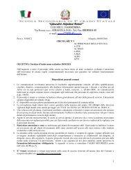 Circolare d'inizio anno scolastico 2010/2011 - Mediarocco.Gov.It