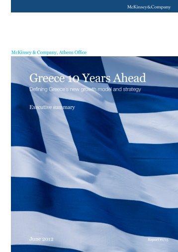 Greece 10 Years Ahead - McKinsey & Company