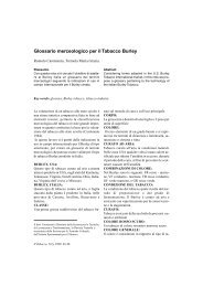 Glossario merceologico per il Tabacco Burley. 45-48 - Inea