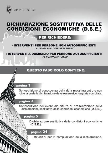 dichiarazione sostitutiva delle condizioni ... - Città di Torino