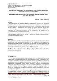 Representações de Doença e Cura no Contexto da ... - CCHLA