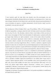 La filosofia e la cura: una breve introduzione al ... - Accademia Opera