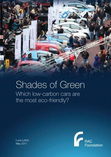 Shades of Green - RAC Foundation